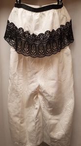 Asos white/black strapless jumpsuit